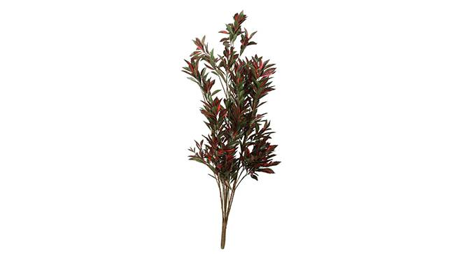 Fragrans Artificial Plant (Red and Green) by Urban Ladder - Front View Design 1 - 315012