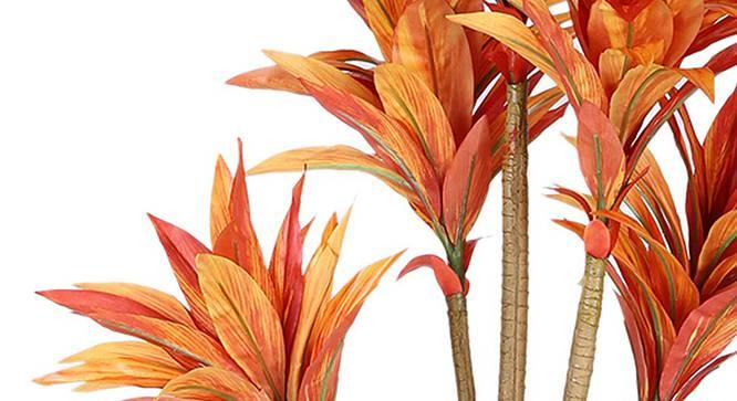 Agavecae Artificial Plant (Orange) by Urban Ladder - Design 1 Side View - 315019