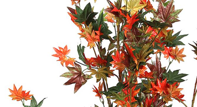 Maple Artificial Plant (Red and Green) by Urban Ladder - Design 1 Side View - 315085