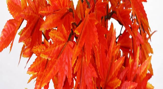 Acer Artificial Plant (Orange) by Urban Ladder - Design 1 Side View - 315160