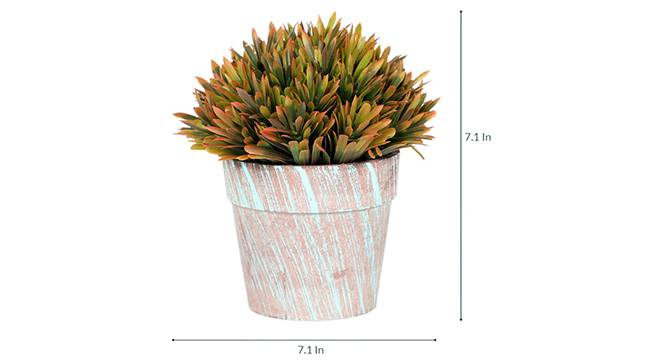 Scabre Artificial Plant (Brown) by Urban Ladder - Design 1 Side View - 315205
