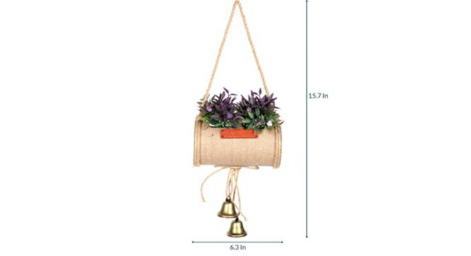 Jali Artificial Plant (Purple) by Urban Ladder - Design 1 Side View - 315223
