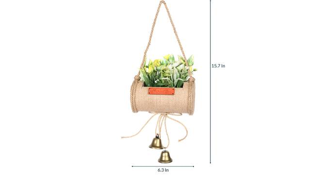 Jali Artificial Plant (Yellow) by Urban Ladder - Design 1 Side View - 315229