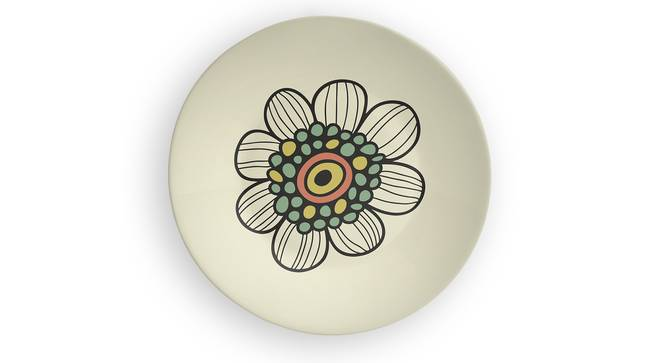 "Floral Splash Wall Plate (Round Shape, 20 x 20 cm (8"" x 8"") Size) by Urban Ladder - Front View Design 1 - 315370"