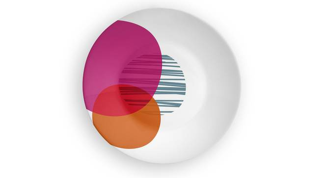 """Circle of Life Pink Wall Plate (Round Shape, 20 x 20 cm (8"""" x 8"""") Size) by Urban Ladder - Front View Design 1 - 315372"""