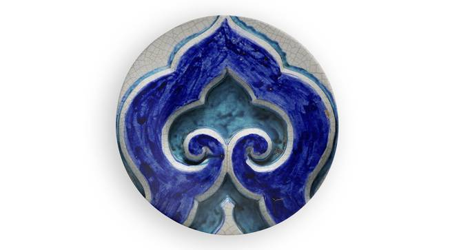 """Damla Wall Plate (Round Shape, 20 x 20 cm (8"""" x 8"""") Size) by Urban Ladder - Front View Design 1 - 315383"""