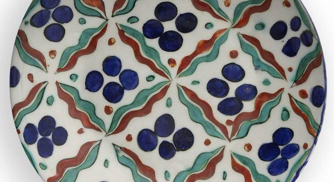 "Deste Wall Plate (Round Shape, 20 x 20 cm (8"" x 8"") Size) by Urban Ladder - Design 1 Side View - 315390"