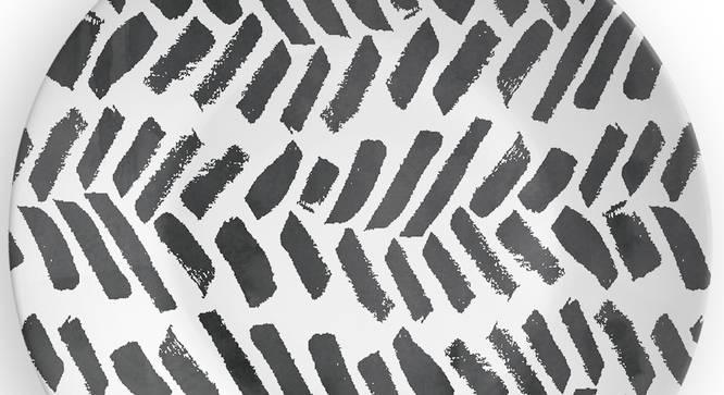 "Monochrome Leaf Wall Plate (Round Shape, 20 x 20 cm (8"" x 8"") Size) by Urban Ladder - Design 1 Side View - 315407"