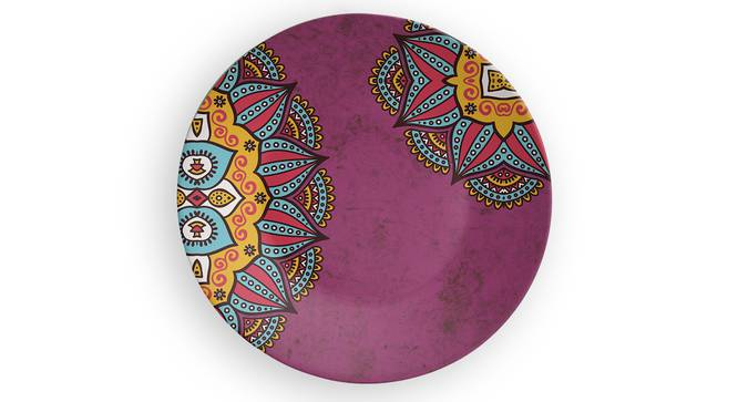 """Mandala Pink Wall Plate (Round Shape, 20 x 20 cm (8"""" x 8"""") Size) by Urban Ladder - Front View Design 1 - 315417"""