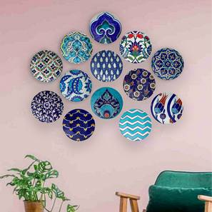 "Turkish Summon Set of 13 Wall Plate (Round Shape, 20 x 20 cm (8"" x 8"") Size) by Urban Ladder - Design 1 - 315427"