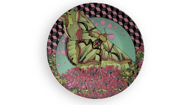 "Titli Sagar Wall Plate (Round Shape, 20 x 20 cm (8"" x 8"") Size) by Urban Ladder - Front View Design 1 - 315430"