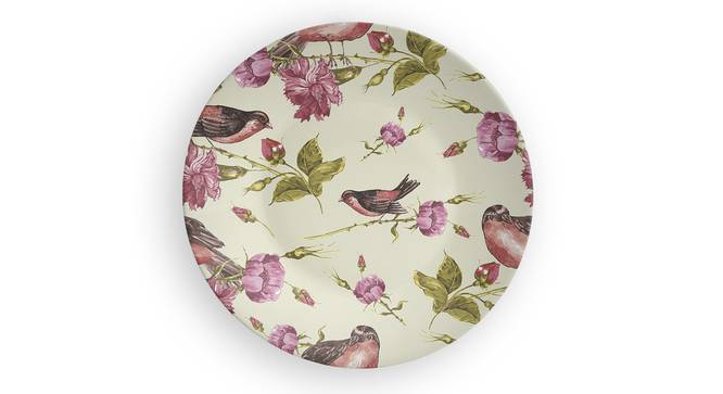 """Birds of the Hour Wall Plate (Round Shape, 20 x 20 cm (8"""" x 8"""") Size) by Urban Ladder - Front View Design 1 - 315436"""