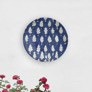 """Blue Marble Wall Plate (Round Shape, 20 x 20 cm (8"""" x 8"""") Size) by Urban Ladder - Design 1 - 315444"""