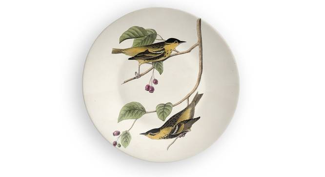 """Birds of Brotherhood Wall Plate (Round Shape, 20 x 20 cm (8"""" x 8"""") Size) by Urban Ladder - Front View Design 1 - 315451"""