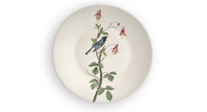 """Blue Blossom Wall Plate (Round Shape, 20 x 20 cm (8"""" x 8"""") Size) by Urban Ladder - Front View Design 1 - 315454"""