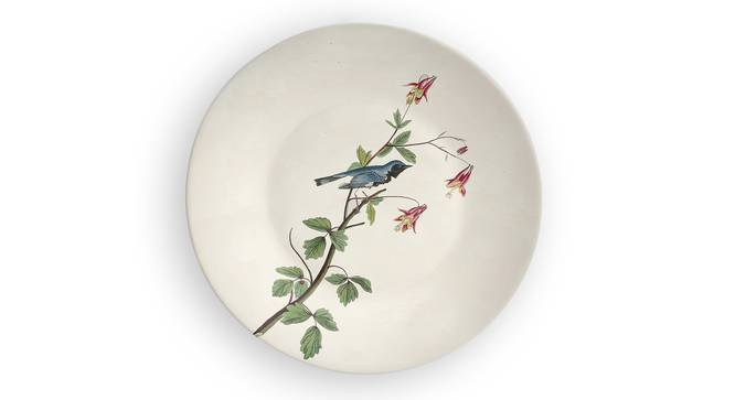 "Blue Bird of Paradise Wall Plate (Round Shape, 20 x 20 cm (8"" x 8"") Size) by Urban Ladder - Front View Design 1 - 315465"