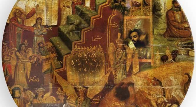 "Leonardo Wall Plate (Round Shape, 20 x 20 cm (8"" x 8"") Size) by Urban Ladder - Design 1 Side View - 315484"