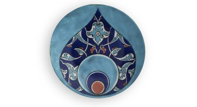 """Moroccan Pattern Wall Plate (Round Shape, 20 x 20 cm (8"""" x 8"""") Size) by Urban Ladder - Front View Design 1 - 315495"""