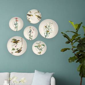 "Indian birds wall Plates (Round Shape, 20 x 20 cm (8"" x 8"") Size) by Urban Ladder - Design 1 - 315504"