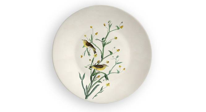 "Yellow Blossom Wall Plate (Round Shape, 20 x 20 cm (8"" x 8"") Size) by Urban Ladder - Front View Design 1 - 315520"