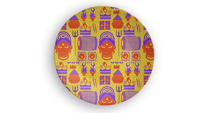 """Creed Wall Plate (Round Shape, 20 x 20 cm (8"""" x 8"""") Size) by Urban Ladder - Front View Design 1 - 315541"""