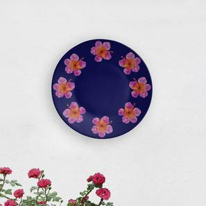 """Floral Halo Wall Plate (Round Shape, 20 x 20 cm (8"""" x 8"""") Size) by Urban Ladder - Design 1 - 315549"""