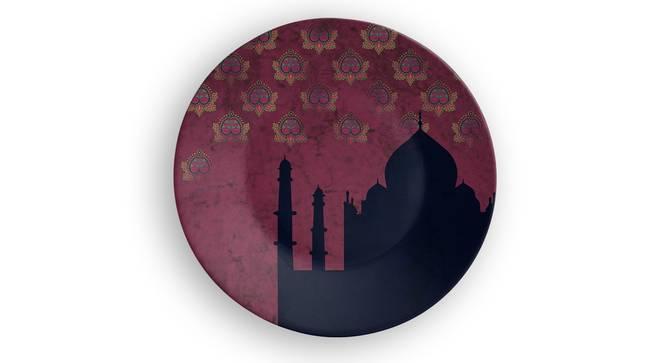 "Taj Mahal Blue Wall Plate (Round Shape, 20 x 20 cm (8"" x 8"") Size) by Urban Ladder - Front View Design 1 - 315574"