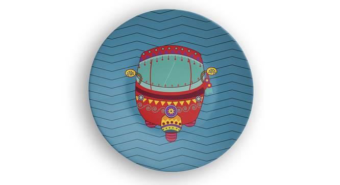 "Rickshaw Wall Plate (Round Shape, 20 x 20 cm (8"" x 8"") Size) by Urban Ladder - Front View Design 1 - 315580"