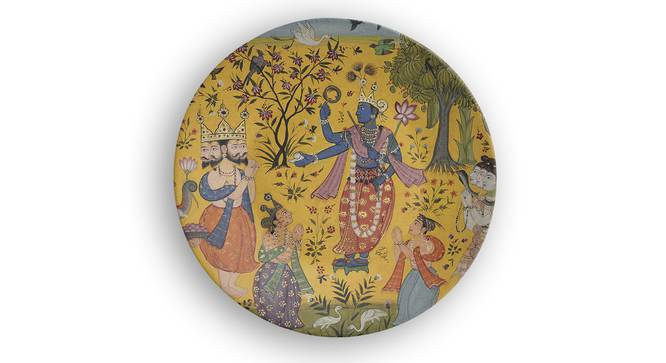 """Arthah Wall Plate (Round Shape, 20 x 20 cm (8"""" x 8"""") Size) by Urban Ladder - Front View Design 1 - 315592"""