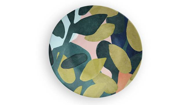 "Broken Leaves Wall Plate (Round Shape, 20 x 20 cm (8"" x 8"") Size) by Urban Ladder - Front View Design 1 - 315595"