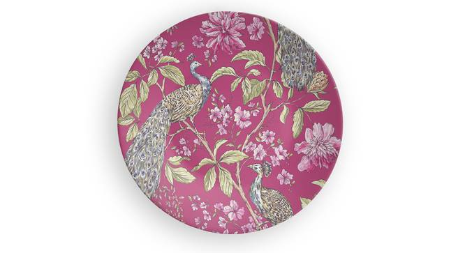 """Artistic Peacock Wall Plate (Round Shape, 20 x 20 cm (8"""" x 8"""") Size) by Urban Ladder - Front View Design 1 - 315598"""