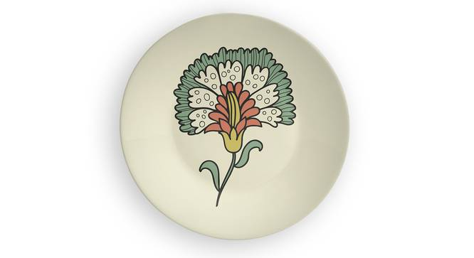 """Floral Bloom Wall Plate (Round Shape, 20 x 20 cm (8"""" x 8"""") Size) by Urban Ladder - Front View Design 1 - 315607"""