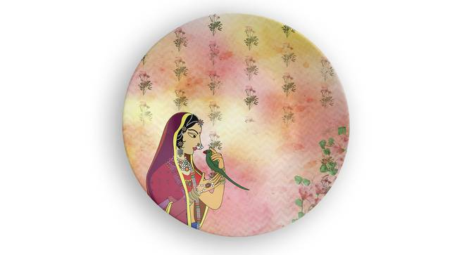"Jodha Wall Plate (Round Shape, 20 x 20 cm (8"" x 8"") Size) by Urban Ladder - Front View Design 1 - 315613"