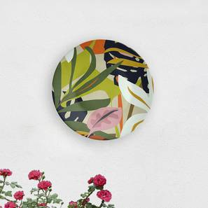 "Lush Garden Wall Plate (Round Shape, 20 x 20 cm (8"" x 8"") Size) by Urban Ladder - Design 1 - 315619"
