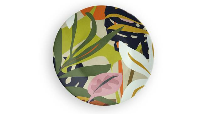 """Lush Garden Wall Plate (Round Shape, 20 x 20 cm (8"""" x 8"""") Size) by Urban Ladder - Front View Design 1 - 315620"""