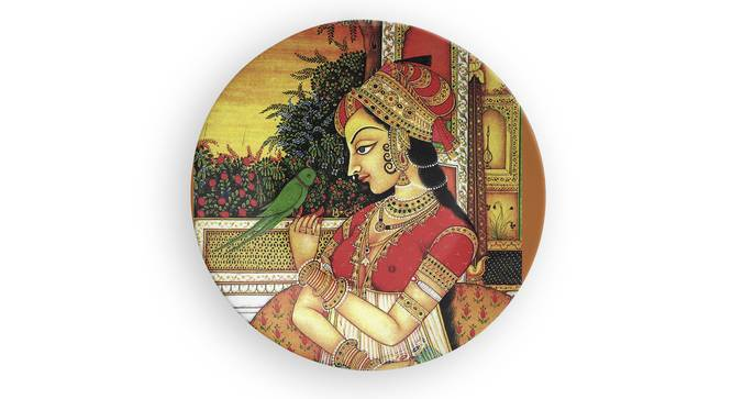 """Queen Of India Wall Plate (Round Shape, 20 x 20 cm (8"""" x 8"""") Size) by Urban Ladder - Front View Design 1 - 315652"""
