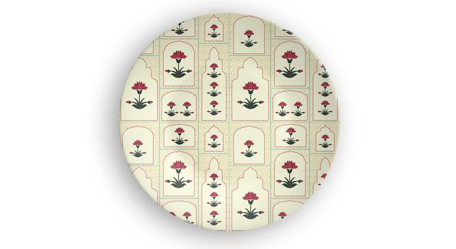 """Rain of Flowers Wall Plate (Round Shape, 20 x 20 cm (8"""" x 8"""") Size) by Urban Ladder - Front View Design 1 - 315655"""