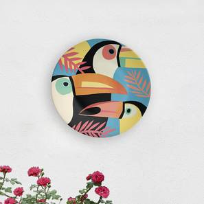 """Penguins of Madagascar Wall Plate (Round Shape, 20 x 20 cm (8"""" x 8"""") Size) by Urban Ladder - Design 1 - 315668"""