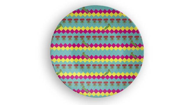 """Parrot Play Wall Plate (Round Shape, 20 x 20 cm (8"""" x 8"""") Size) by Urban Ladder - Front View Design 1 - 315672"""