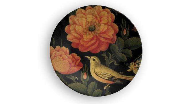 """Sparrow's Paradise Wall Plate (Round Shape, 20 x 20 cm (8"""" x 8"""") Size) by Urban Ladder - Front View Design 1 - 315679"""