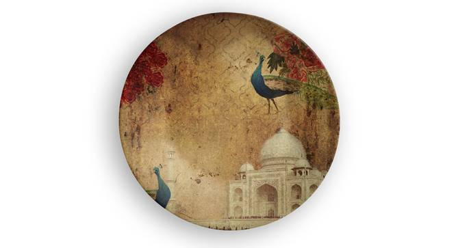 """Taj Mahal Wall Plate (Round Shape, 20 x 20 cm (8"""" x 8"""") Size) by Urban Ladder - Front View Design 1 - 315685"""