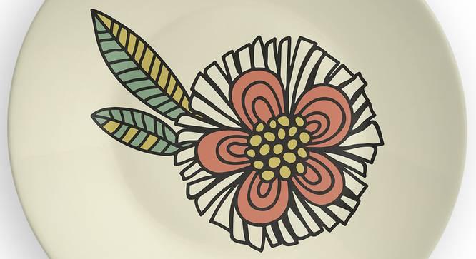 "Spiral Flower Wall Plate (Round Shape, 20 x 20 cm (8"" x 8"") Size) by Urban Ladder - Design 1 Side View - 315695"