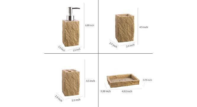 Tibor Bath Accessories Set (Gold) by Urban Ladder - Design 1 Side View - 315844