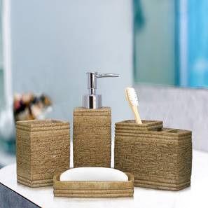 Tygo Bath Accessories Set (Gold) by Urban Ladder - Design 1 - 315854