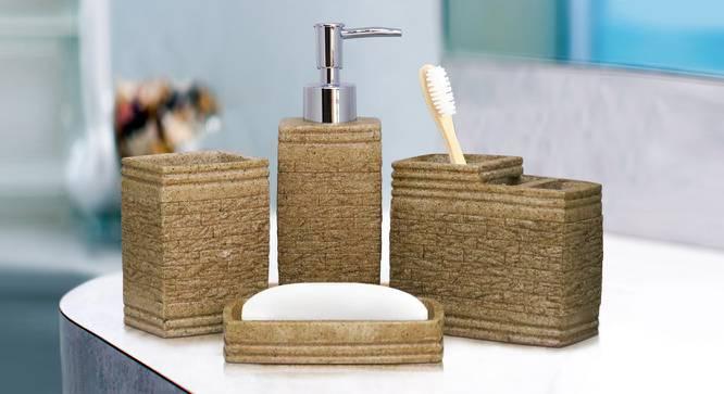 Tygo Bath Accessories Set (Gold) by Urban Ladder - Front View Design 1 - 315855