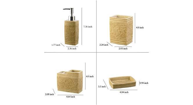 Tygo Bath Accessories Set (Gold) by Urban Ladder - Design 1 Side View - 315856