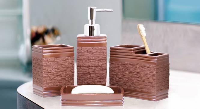 Urban Bath Accessories Set (Brown) by Urban Ladder - Front View Design 1 - 315858