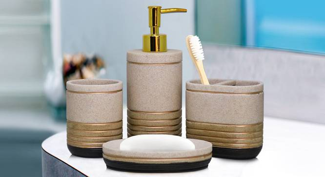 Valentin Bath Accessories Set by Urban Ladder - Front View Design 1 - 315861