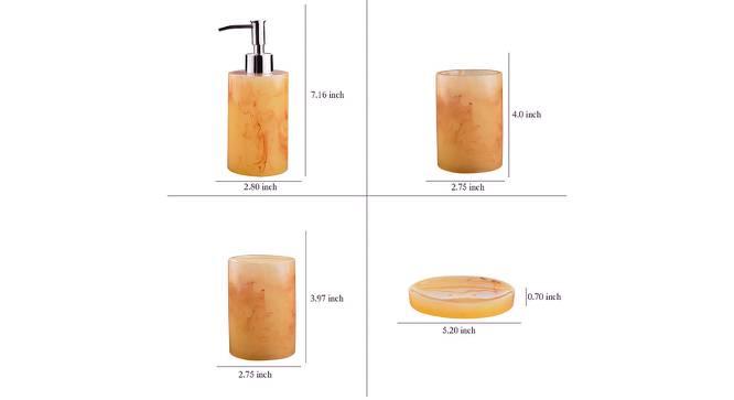 Valerio Bath Accessories Set (Brown) by Urban Ladder - Design 1 Side View - 315865