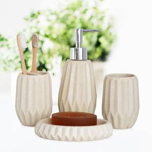 Vidar Bath Accessories Set (Beige) by Urban Ladder - Design 1 - 315869